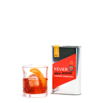 Serving a Holy Negroni cocktail