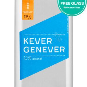 Non aloholic mixer kever 0% free glass