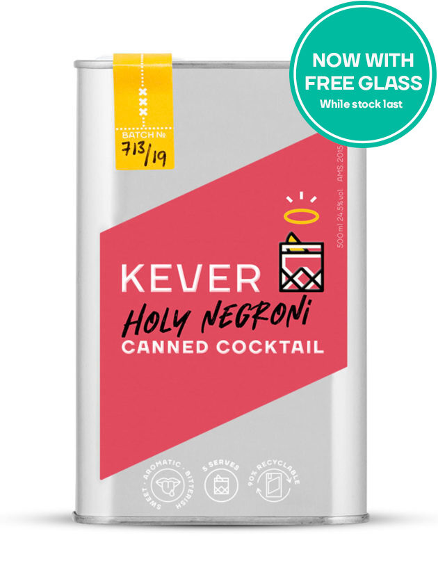 Holy Negroni Canned Cocktail free glass promotion
