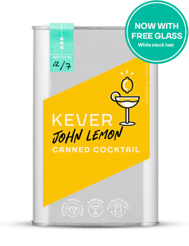 John lemon canned cocktail free glass promotion